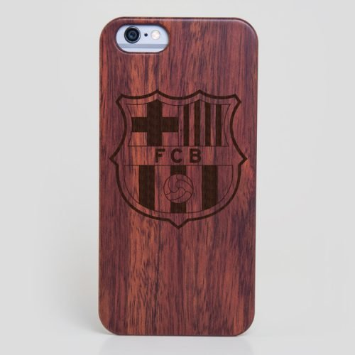 Wooden FC Barcelona iPhone 6 Case Lionel Messi Cover