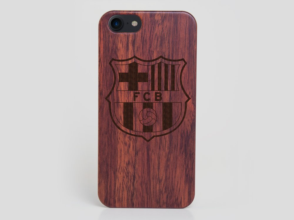 Wooden FC Barcelona iPhone 7 case Lionel Messi Cover