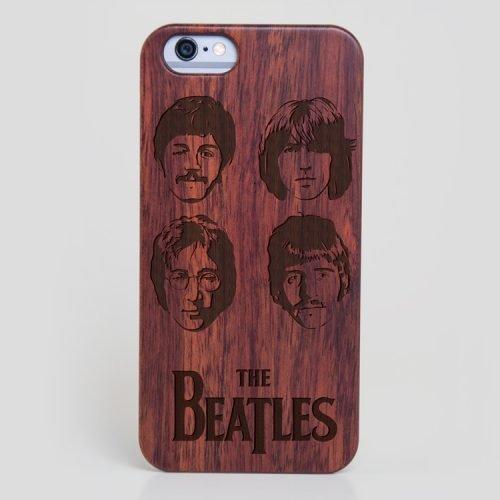 Wooden The Beatles iPhone SE Case John Lennon Case