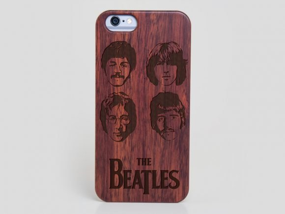 cheap for discount 859bc d5d27 Wooden The Beatles iPhone SE Case - Wood iPhone SE Cover John Lennon Case