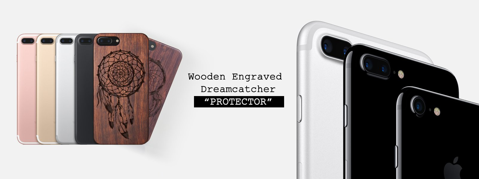 Wooden Engraved Dreamcatcher iPhone Case PROTECTOR - Dream without fear, love without limits cover