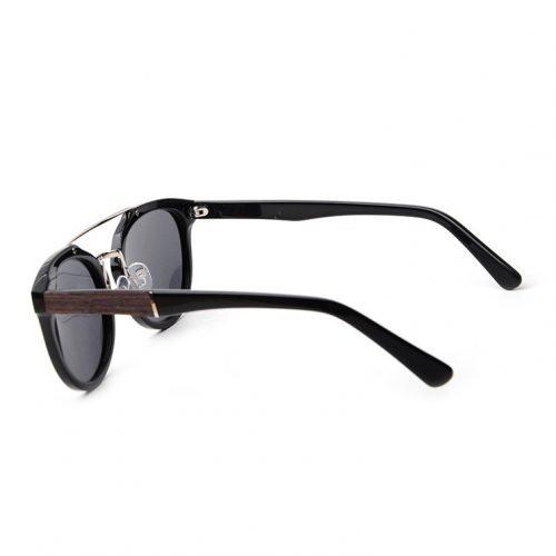 Espresso Wood Women Sunglasses Left Side