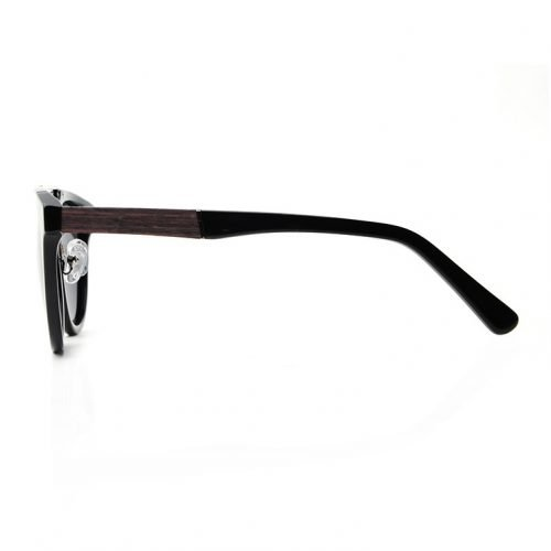 Espresso Wood Women Sunglasses Side