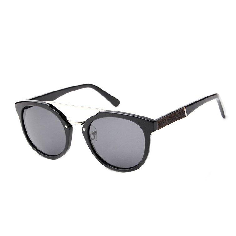 Espresso Wood Women Sunglasses