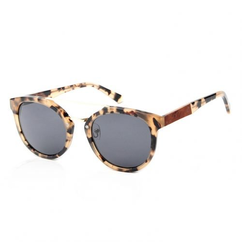 Womens Leopard Wooden Sunglasses