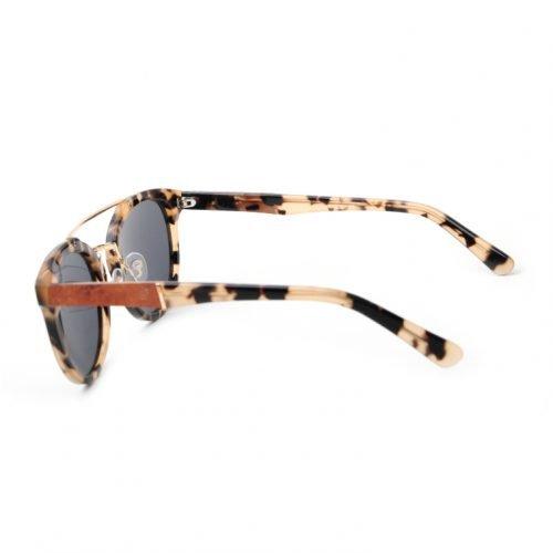 Womens Leopard Wooden Sunglasses Side 2
