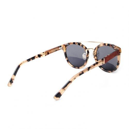 Womens Leopard Wooden Sunglasses Side