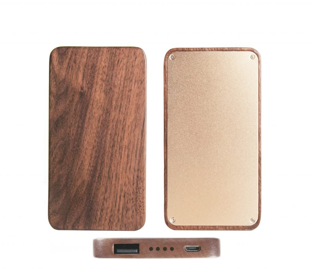 Wooden Portable Power Bank 20000mah Capacity Phone Charger