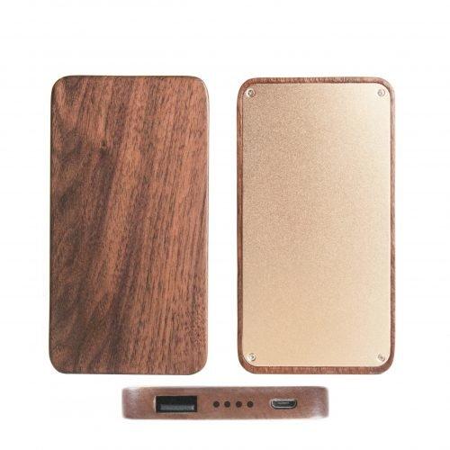 Wooden Portable Power Bank 20000mah Capacity Phone Charger