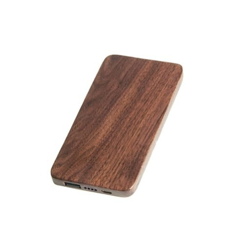 Wooden Portable Power Bank 20000mah Capacity Phone Charger Side