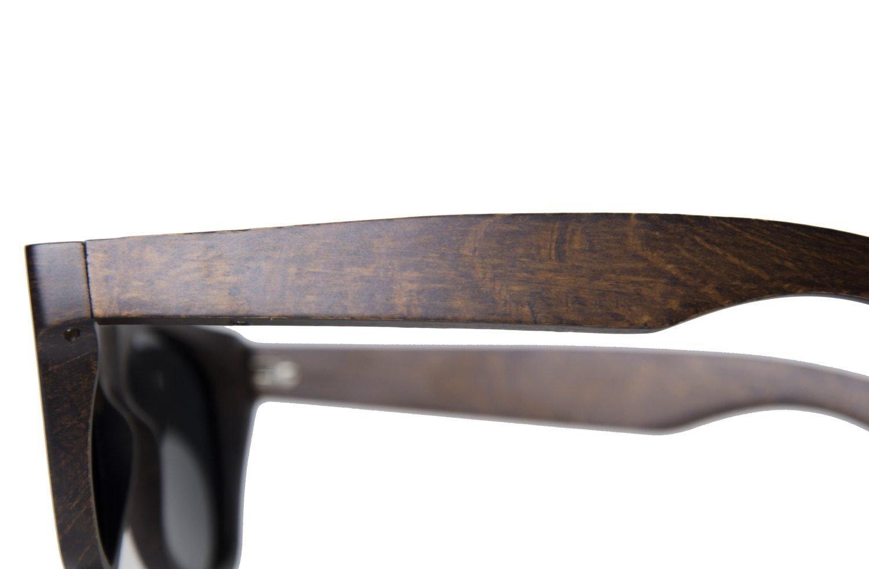 579ec623e5 Eco- Friendly Wooden Sunglasses Handmade Mahogany Wayfarer Real Wood Eyewear.  Next