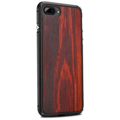 iPhone 7 Plus Aluminum Metal Case Anti Shock WoodCover For iPhone 7 Plus