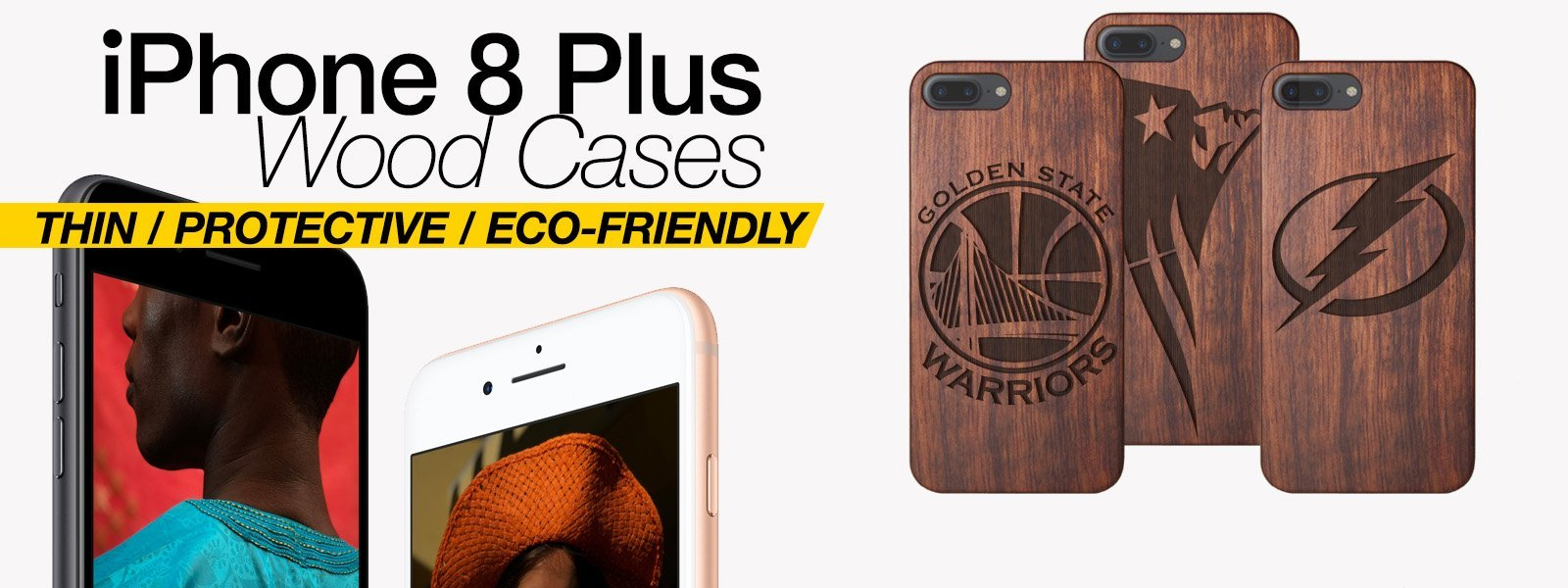 Wood iPhone 8 Plus Cases Thin Protective Eco Friendly