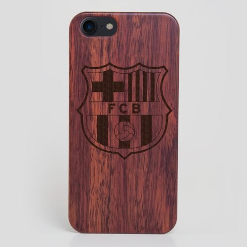 Wooden FC Barcelona iPhone 8 Case Lionel Messi Cover