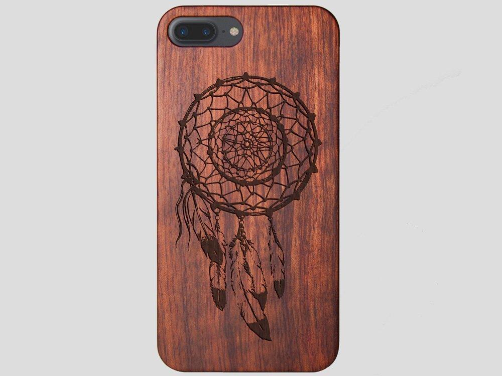 Wooden Dreamcatcher iPhone 8 Plus Feathers Case