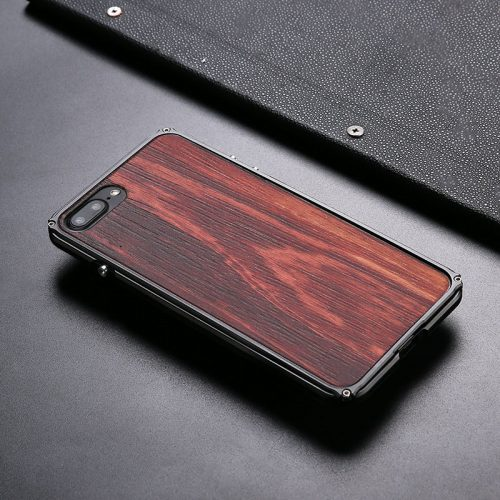 iPhone 8 Aluminum Metal Case Anti Shock Wood Cover For iPhone 8 Top
