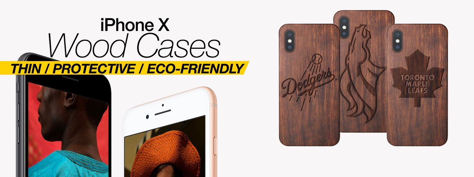 Wood iPhone X Cases Best Wood iPhone X Covers Thin Protective Eco Friendly