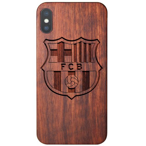 Wooden FC Barcelona iPhone X Case Lionel Messi Cover