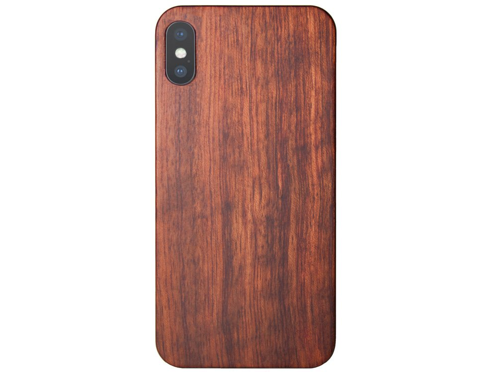 Best Wood iPhone X Case - Mahogany Wooden iPhone X Cover and tech accessories crafted by All Wood Everything