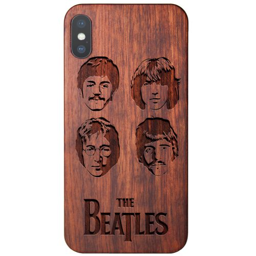 Wooden The Beatles iPhone X Case John Lennon Case
