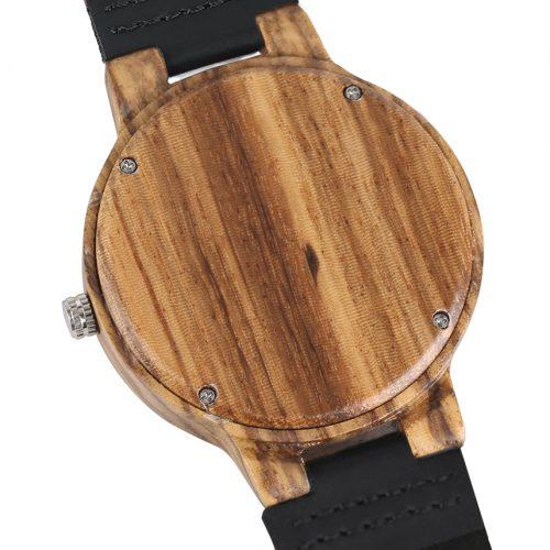 Wooden Watch Black Marble Grain Wood Watch Back