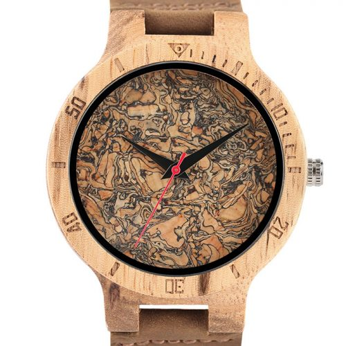 Wooden Watch Black Oil Stain Wood Watch Front