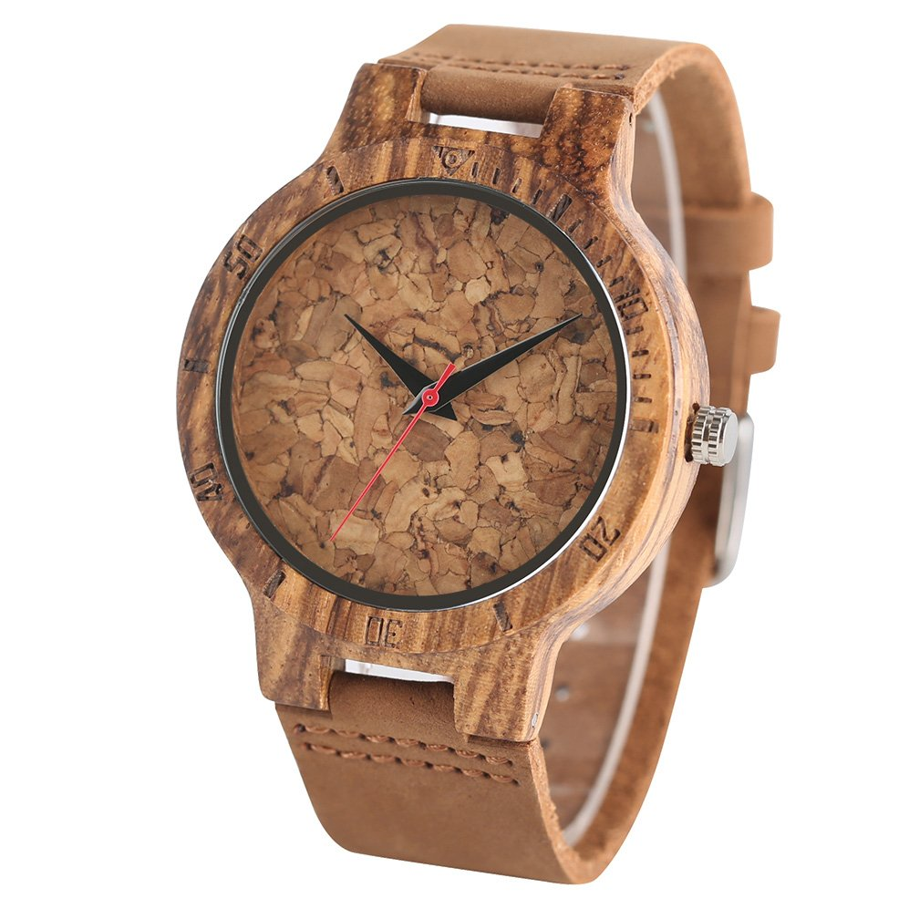 Wooden Watch Gold Barley Wood Watches, Gifts for him, Minimalist Watch for Men, Watch for Men, Watch for Husband