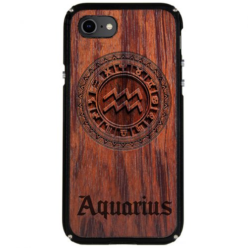 Aquarius iPhone 8 Case Aquarius Zodiac Tattoo Horoscope iPhone 8 Cover