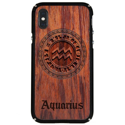 Aquarius iPhone X Case Aquarius Zodiac Tattoo Horoscope iPhone X Cover