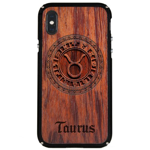Taurus iPhone X Case Taurus Zodiac Tattoo Horoscope iPhone X Cover