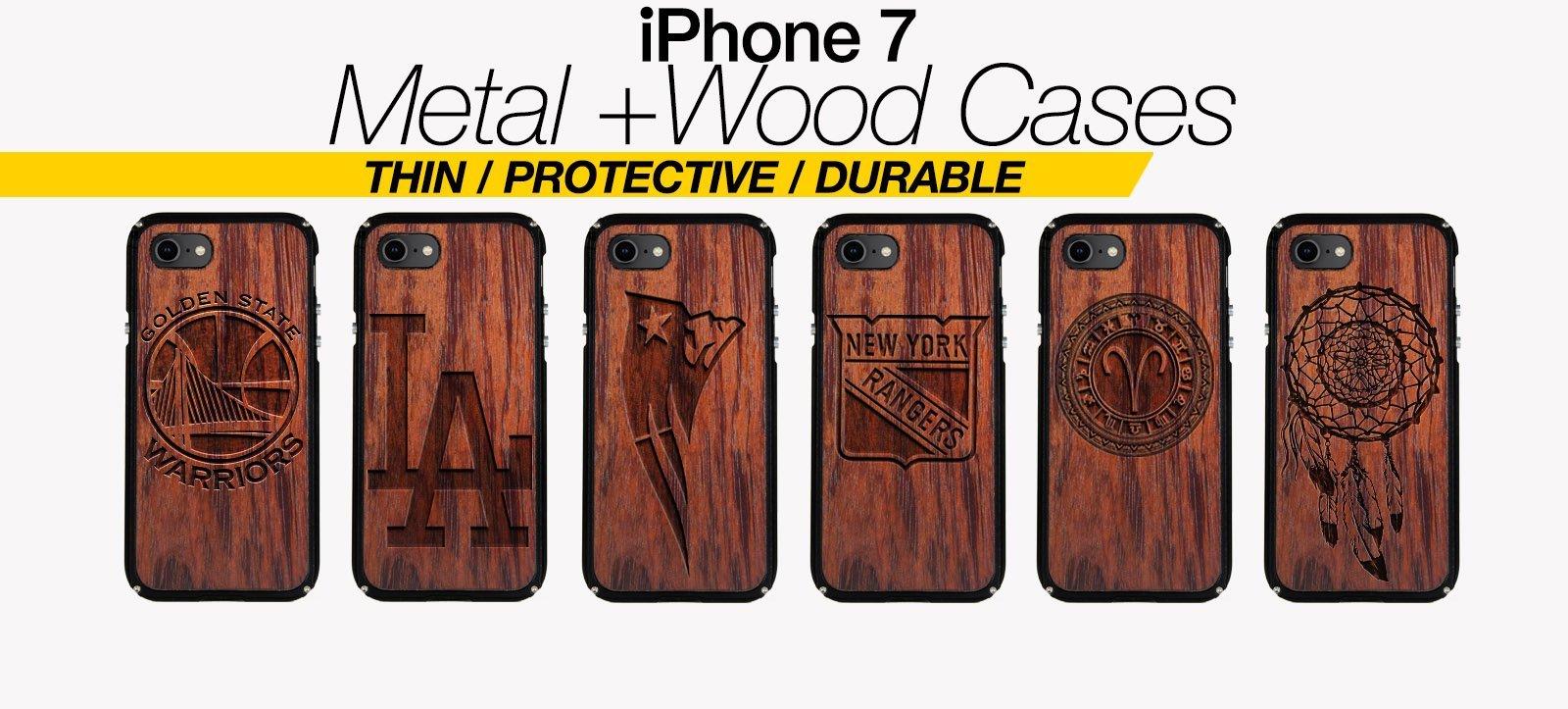 pretty nice af108 5f5af Shop Metal + Wood iPhone 7 Cases | iPhone 7 Covers