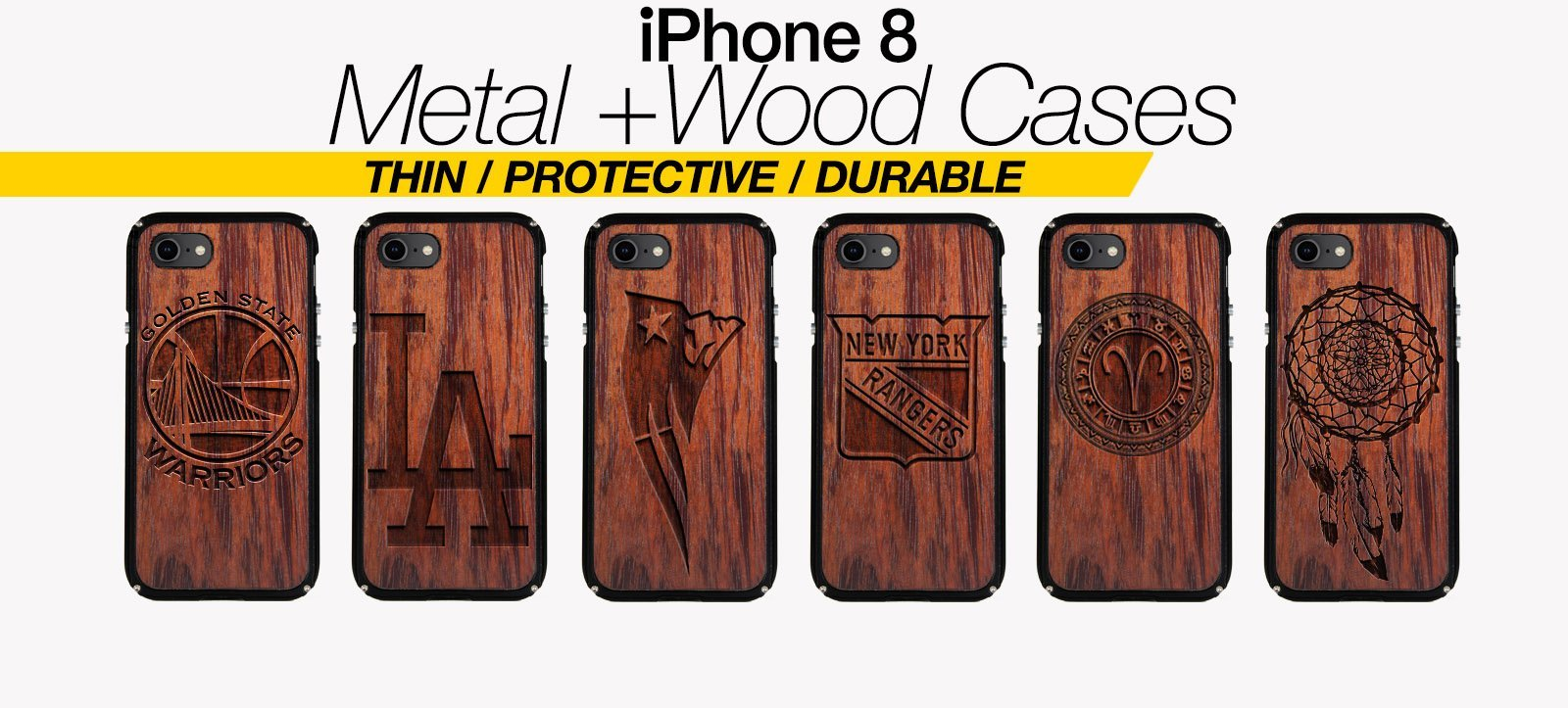 Wood And Metal iPhone 8 Cases Best Wood And Metal iPhone 8 Covers Thin Protective Eco Friendly