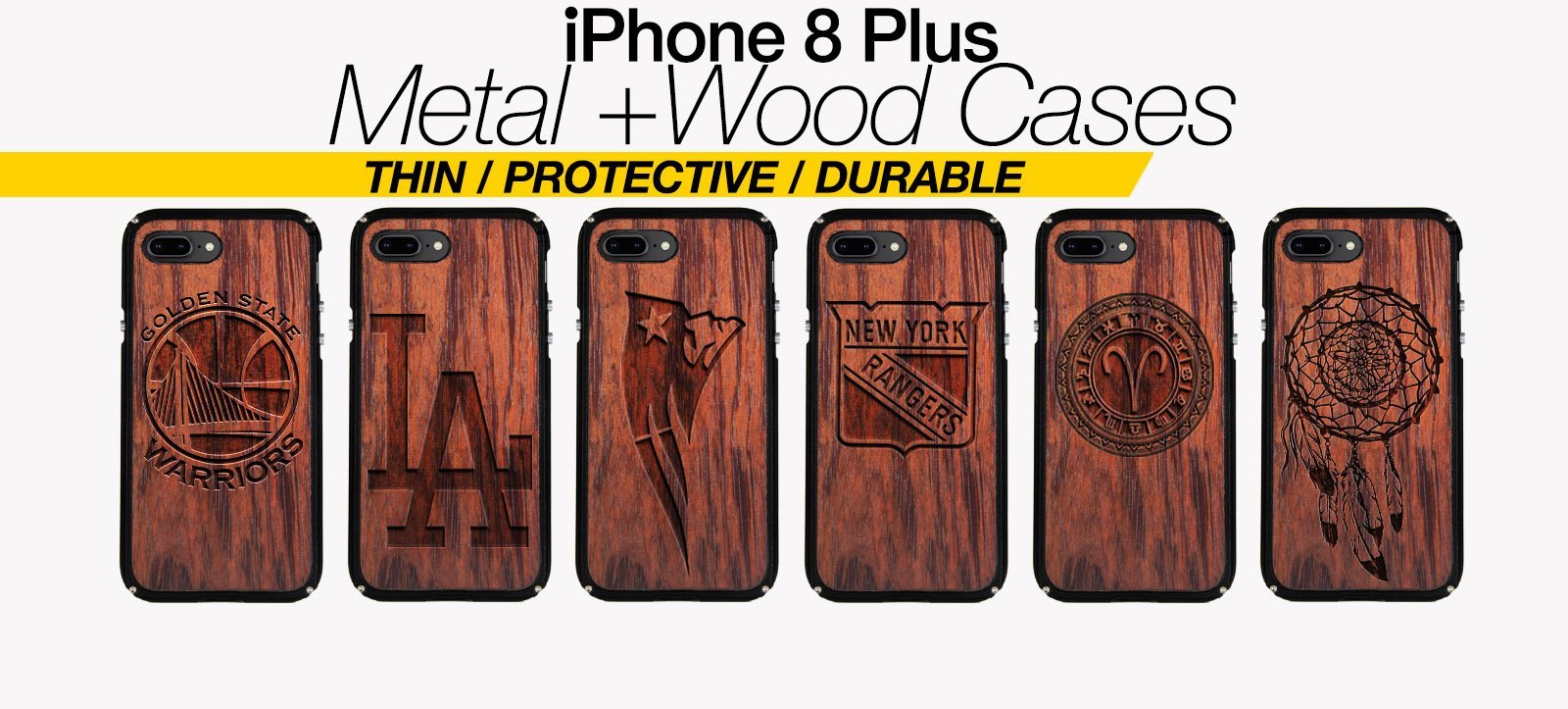 Wood And Metal iPhone 8 Plus Cases Best Wood And Metal iPhone 8 Plus Covers Thin Protective Eco Friendly