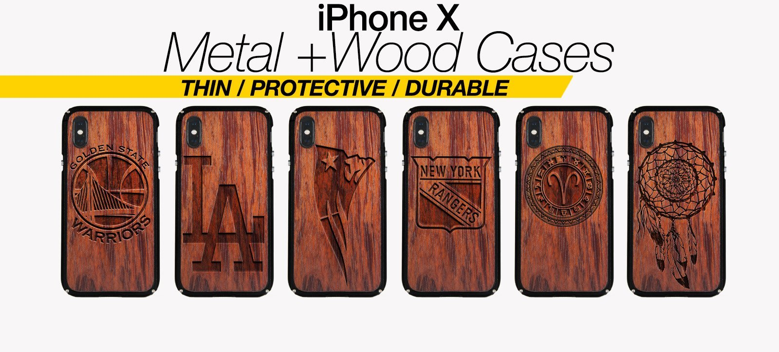Wood And Metal iPhone X Cases Best Wood And Metal iPhone X Covers Thin Protective Eco Friendly