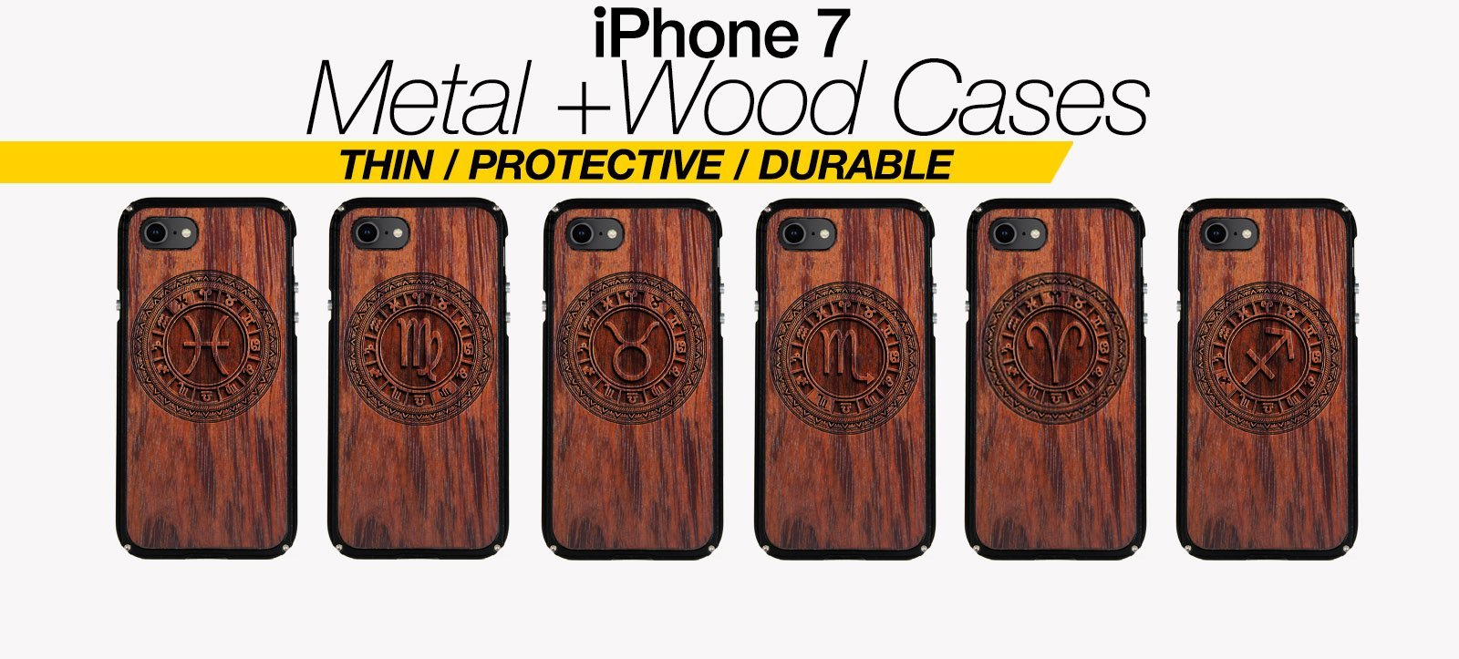 Zodiac Signs iPhone 7 Cases Best Zodiac Horoscope Metal Wood iPhone 7 Covers Gifts For Zodiac Lovers Fans Astrology Cases Phone Birthday Gifts For Astrology Lovers