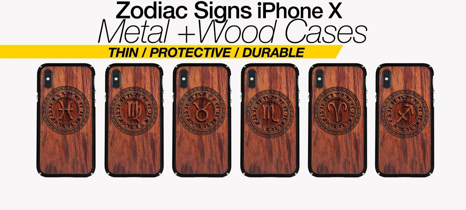 Zodiac Signs iPhone X Cases Best Zodiac Horoscope Metal Wood iPhone X Covers Gifts For Zodiac Lovers Fans Astrology Cases Phone Birthday Gifts For Astrology Lovers