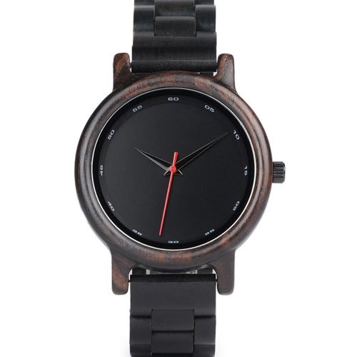 Black Ebony Walnut Wooden Watch For Women And Men Black Sonnet Series Best Women's Wood Watch