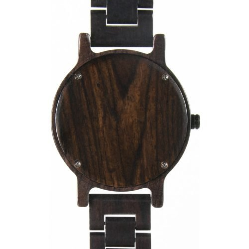 Black Ebony Walnut Wooden Watch For Women And Men Black Sonnet Series Best Women's Wood Watch Back