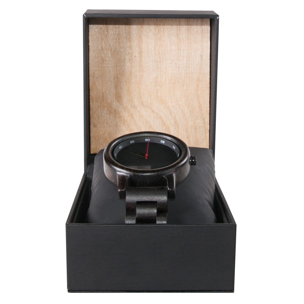 Black Ebony Walnut Wooden Watch For Women And Men Black Sonnet Series Best Womens Wood Watch