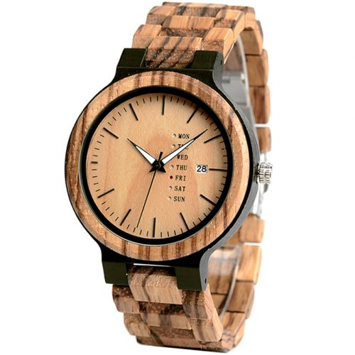 Gold Maple Wooden Watch For Men And Women Gold Sonnet Series Best Womens Wood Watch Side