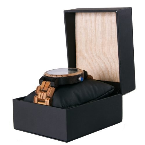 Gold Maple Wooden Watch For Men And Women Gold Sonnet Series With Wood And Leather Watch Box Best Womens Wood Watch Side