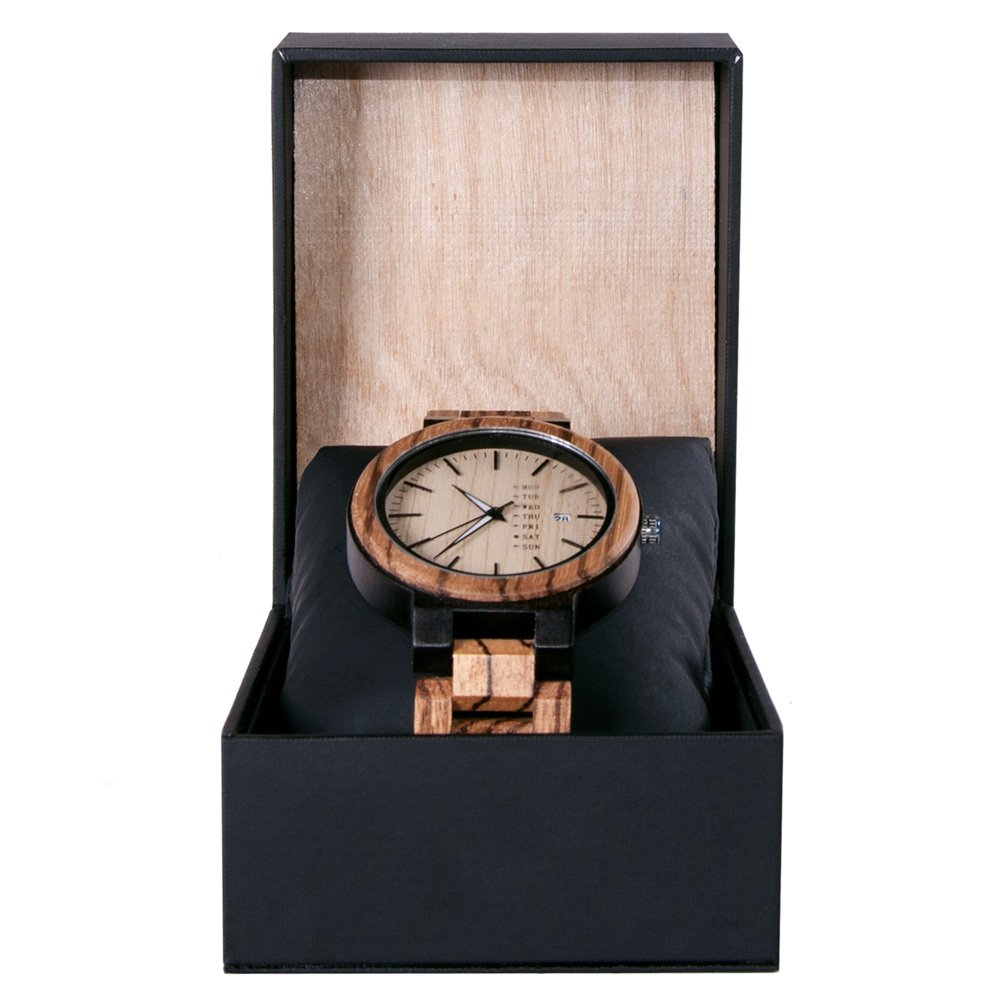 Gold Maple Wooden Watch For Men And Women Gold Sonnet Series With Wood And Leather Watch Box Best Womens Wood Watch