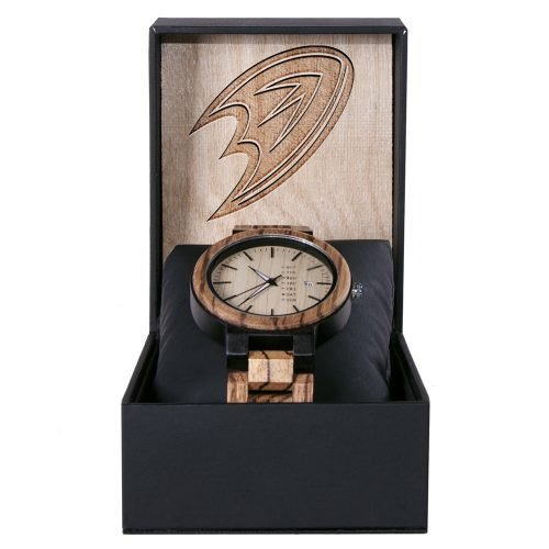 Anaheim Ducks Maple Wooden Watch | Wood Watch Gold Sonnet Series