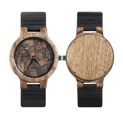 Arizona Coyotes Mahogany Marble Wooden Watch | Mens Minimalist Wood Watch