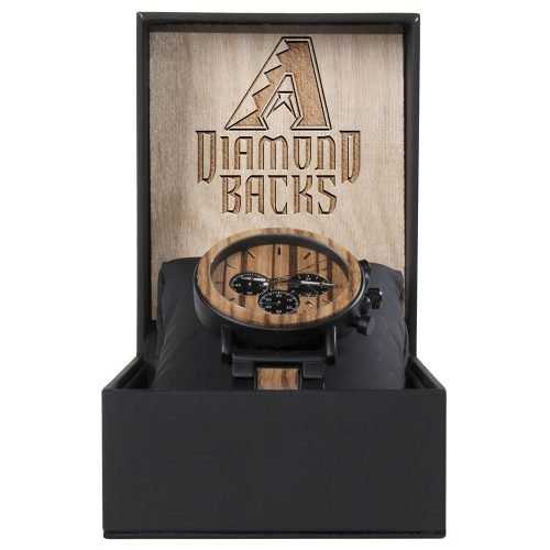 Arizona Diamondbacks Metal and Wood Watch | Mens Titanium Chronograph Watch