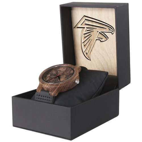 Atlanta Falcons Mahogany Marble Wooden Watch | Mens Minimalist Wood Watch
