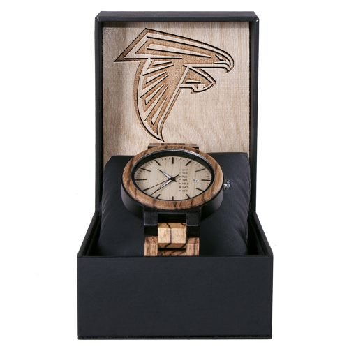Atlanta Falcons Maple Wooden Watch | Wood Watch Gold Sonnet Series