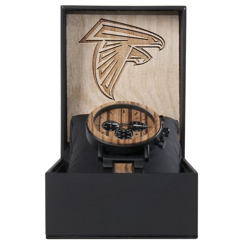 Atlanta Falcons Metal and Wood Watch | Mens Titanium Chronograph Watch
