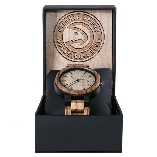 Atlanta Hawks Maple Wooden Watch | Wood Watch Gold Sonnet Series