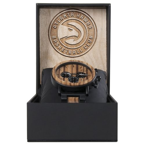 Atlanta Hawks Metal and Wood Watch | Mens Titanium Chronograph Watch